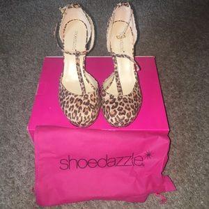 ShoeDazzle Cheetah Wedges